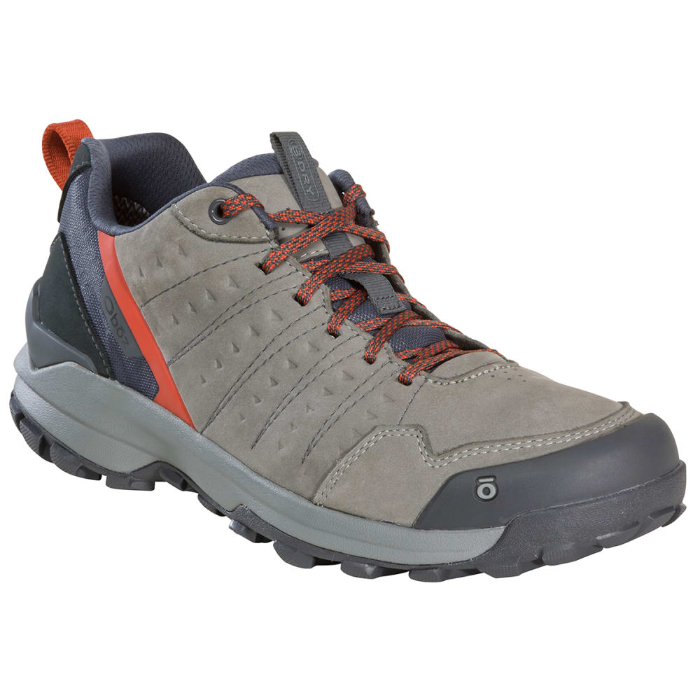 OBOZ Men's Sypes Low Leather B-DRY Hiking Shoe, Wide Width 8