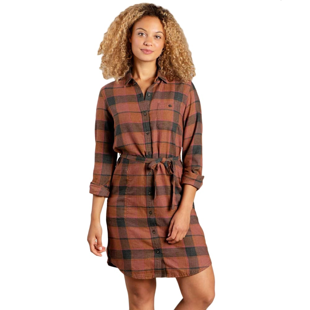 TOAD & CO Women's Re-Form Flannel Shirtdress M