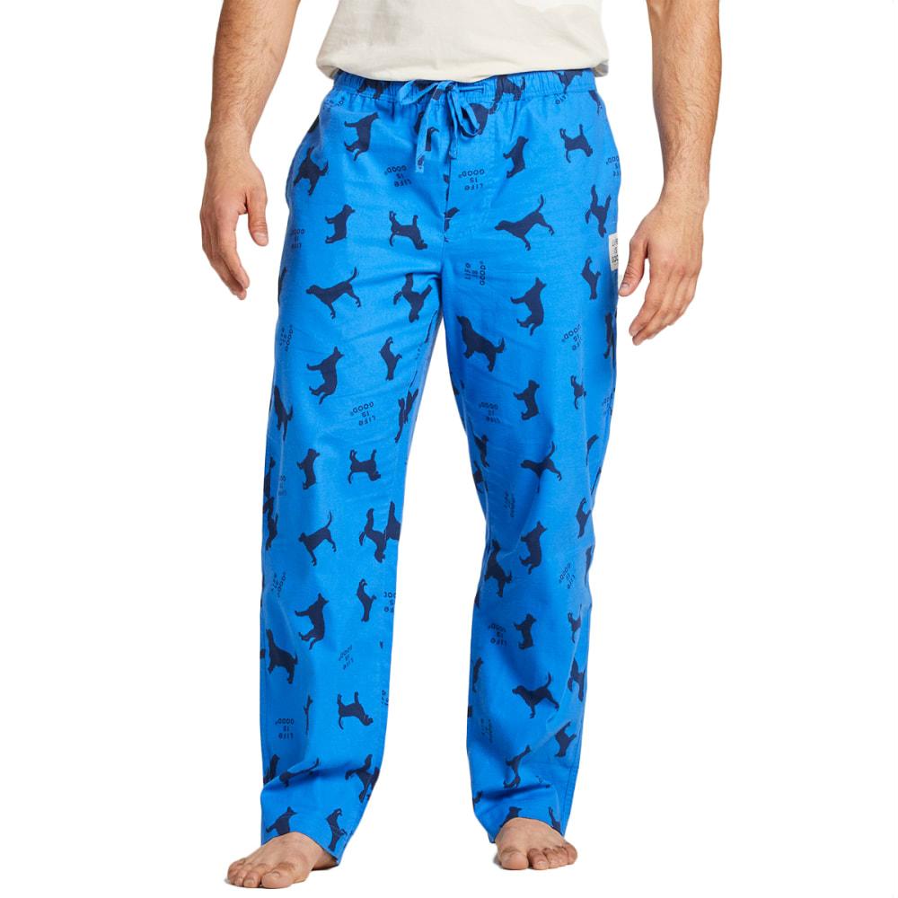 LIFE IS GOOD Men's Classic Dog Sleep Pants S