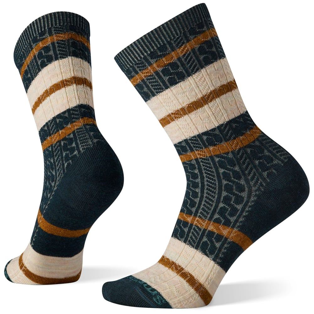 SMARTWOOL Women's Everyday Striped Cable Crew Socks S