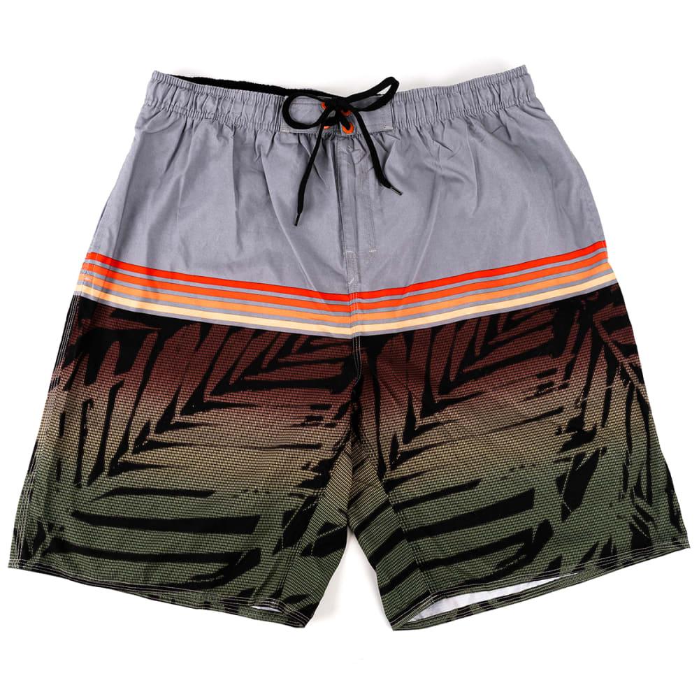 BURNSIDE Men's Northshore Palm Swim Short S