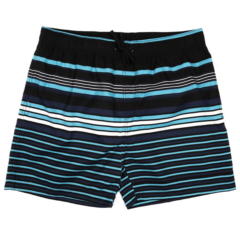 "BURNSIDE Men's Race Stripe 17"" Volley Swim Short S"