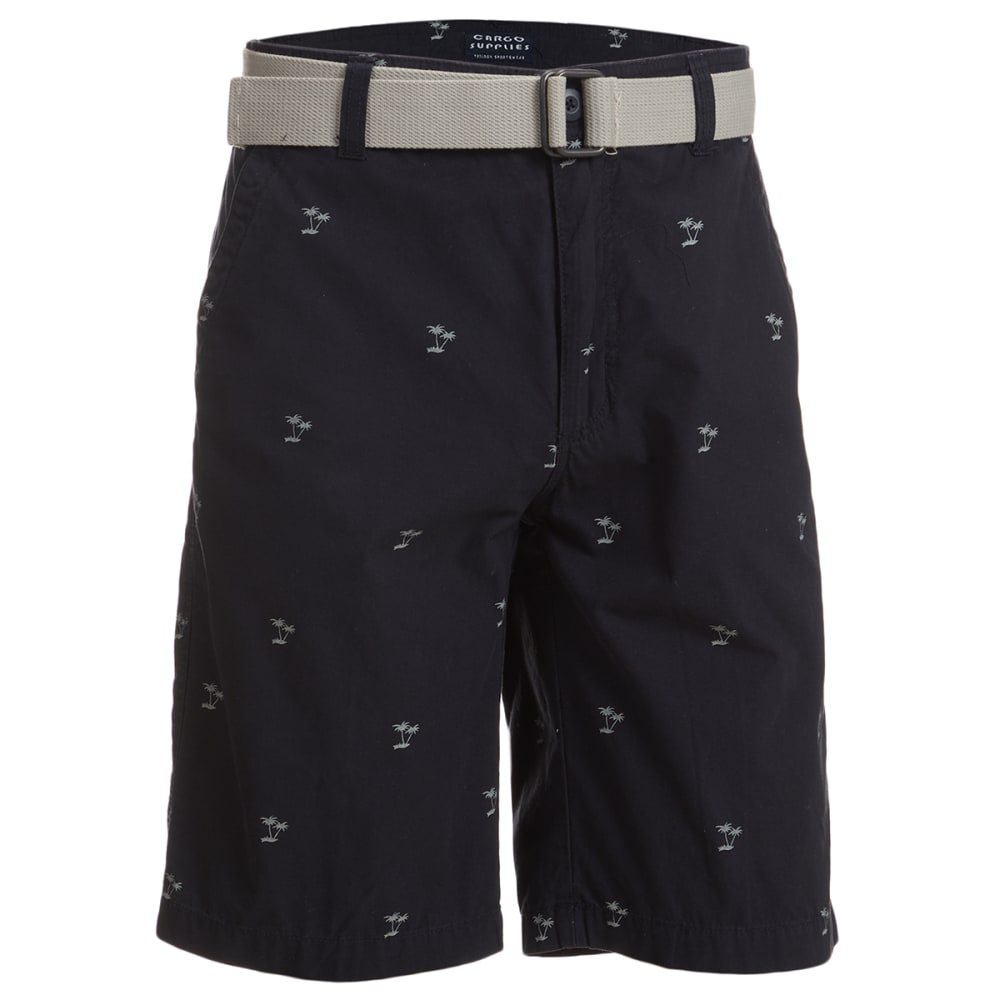 CARGO SUPPLIES Men's Drawcord Flat Front Shorts 30