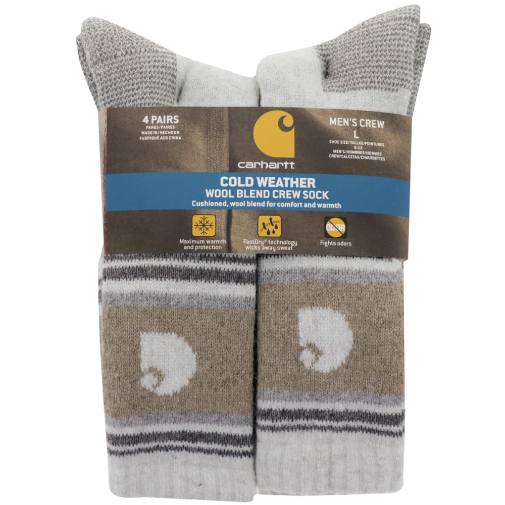 CARHARTT Men's Cold Weather Crew Sock, 4 Pack L