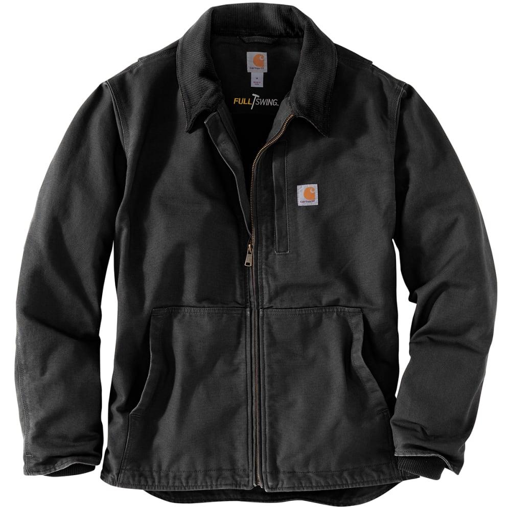 CARHARTT Men's Full Swing Loose Fit Washed Duck Fleece-Lined Jacket M