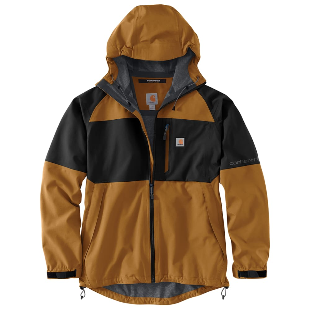 CARHARTT Men's Storm Defender Force Hooded Jacket, Extended Sizes L TALL