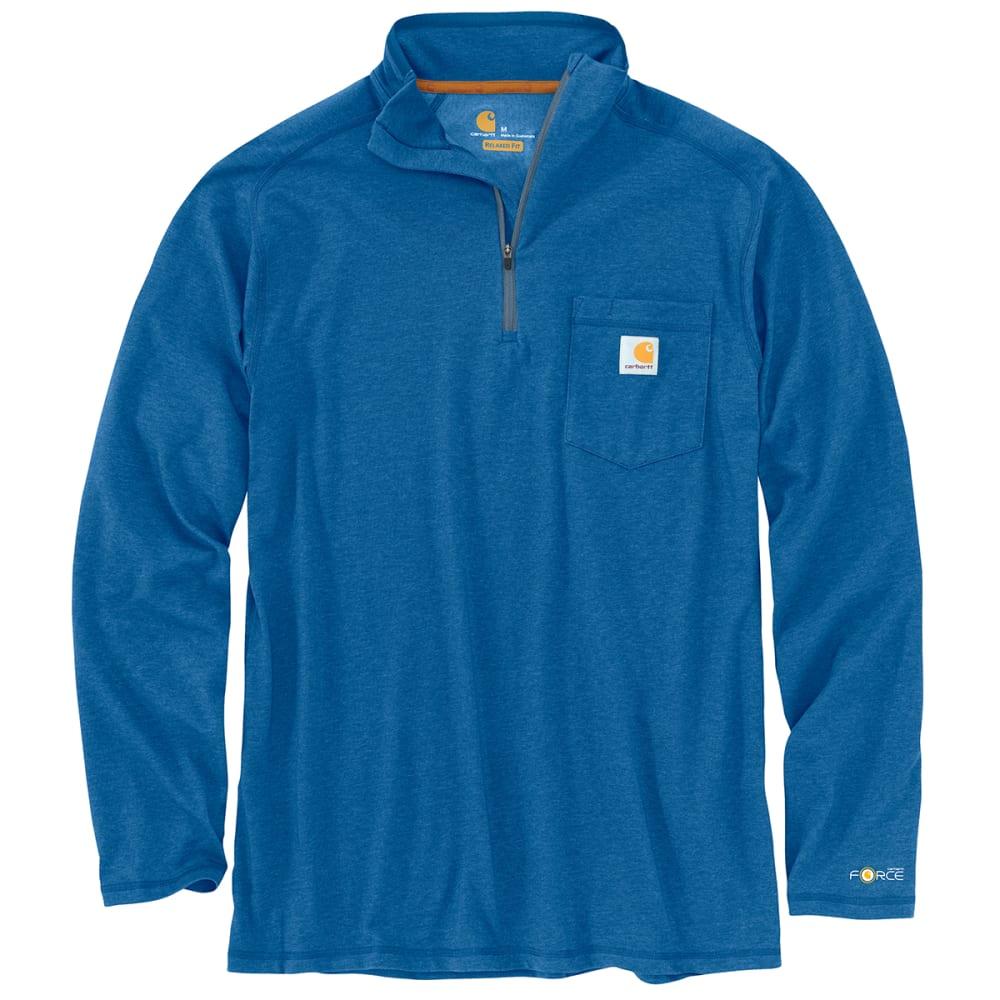 CARHARTT Men's Force Long Sleeve Quarter Zip Pocket Tee, Extended Sizes 3XL