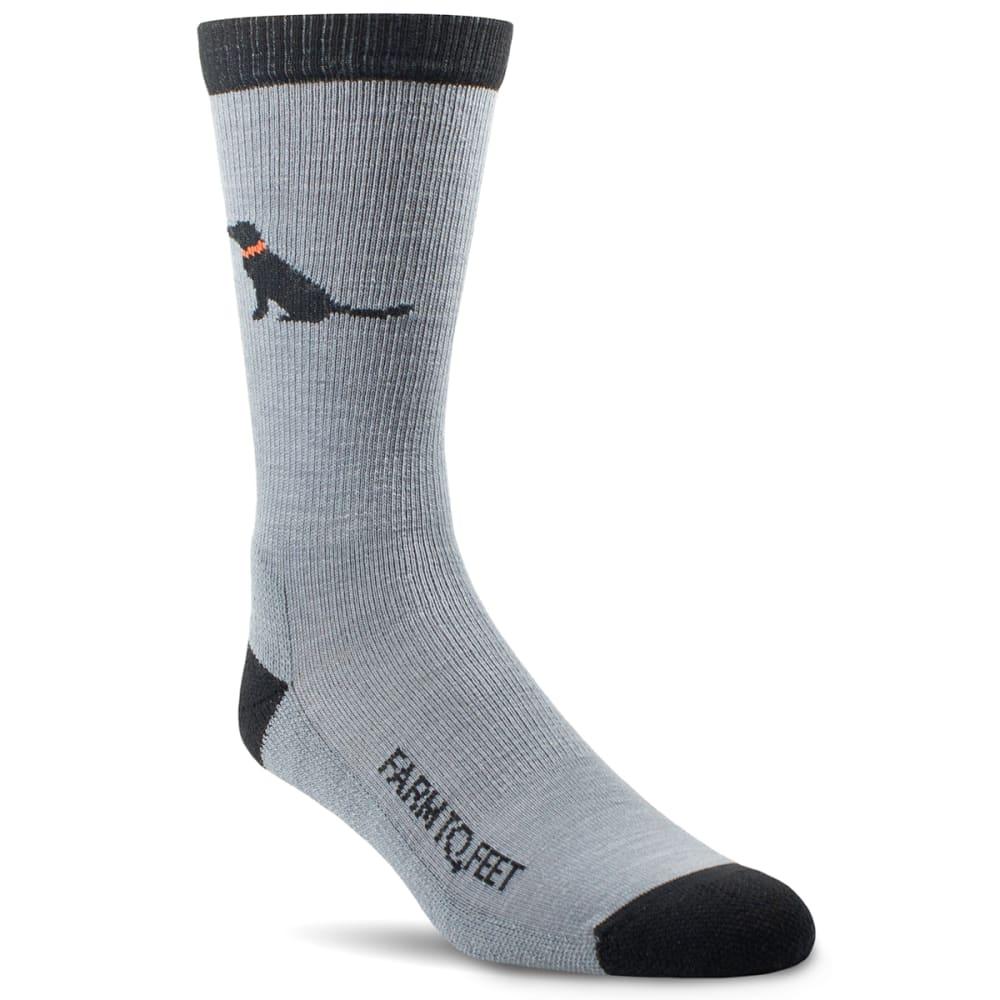 FARM TO FEET Men's Sunderland All Season Merino Wool Crew Socks M