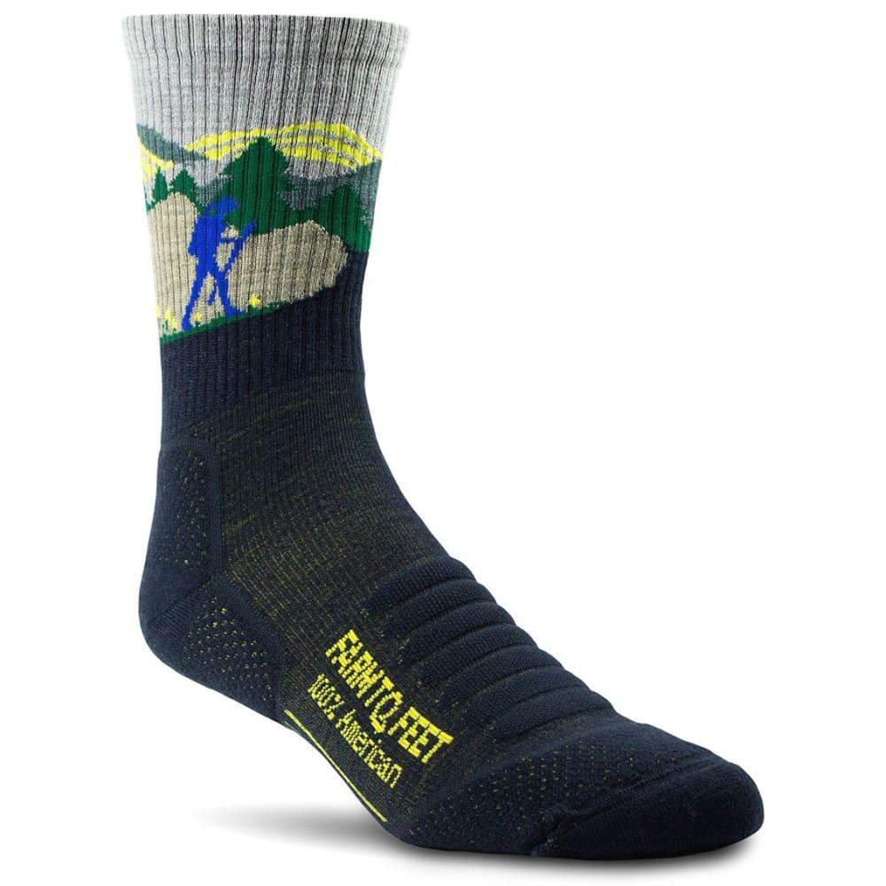 FARM TO FEET Men's Blue Ridge 3/4 Crew Sock M