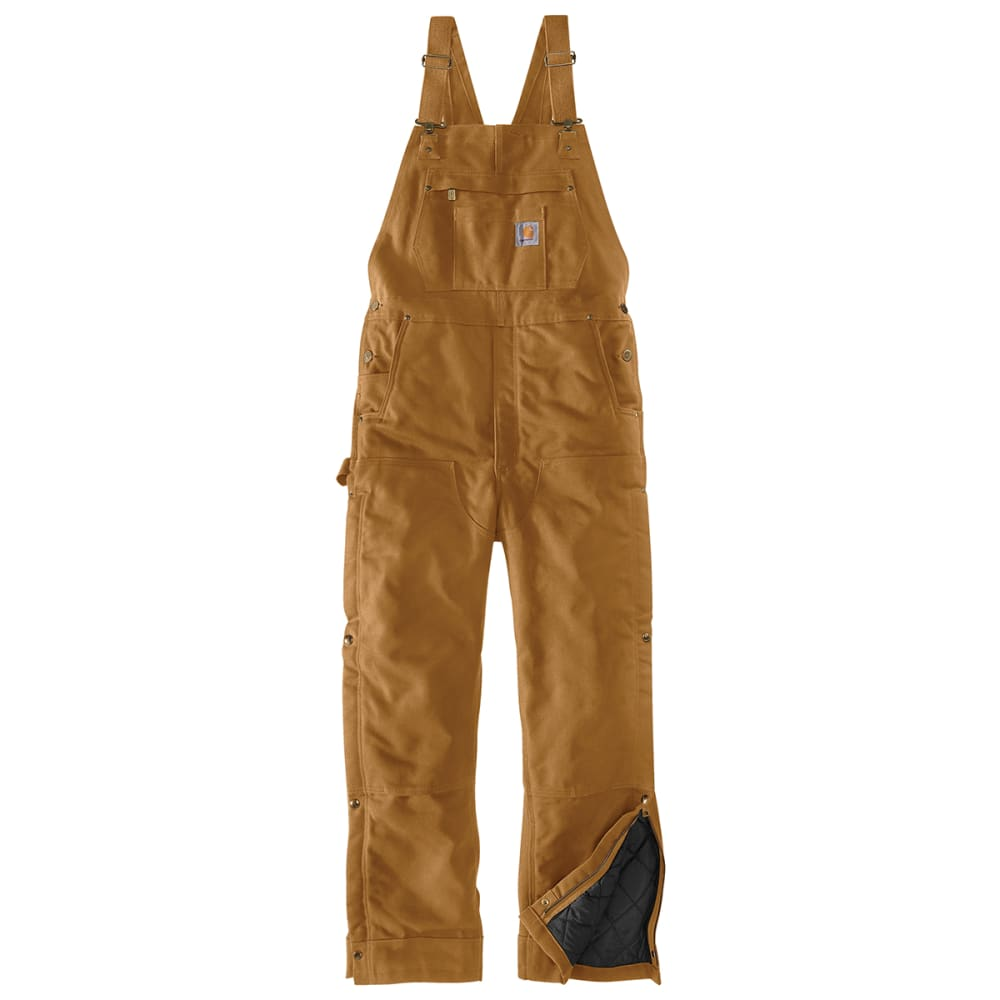 CARHARTT Men's Loose Fit Firm Duck Insulated Bib Overall 34/30