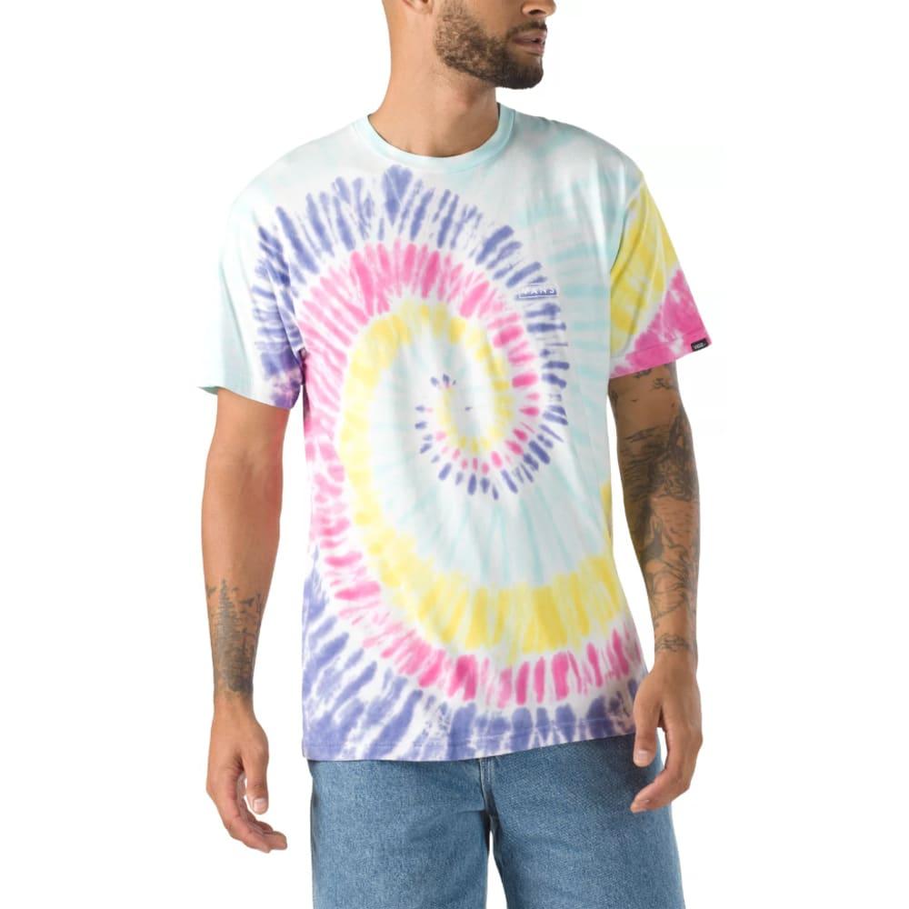 VANS Men's Drop V Spiral Tie Dye Short Sleeve Tee S