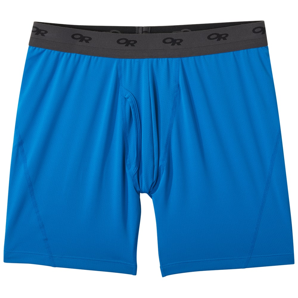 """OUTDOOR RESEARCH Men's Next to None Boxer Briefs - 6"""" S"""