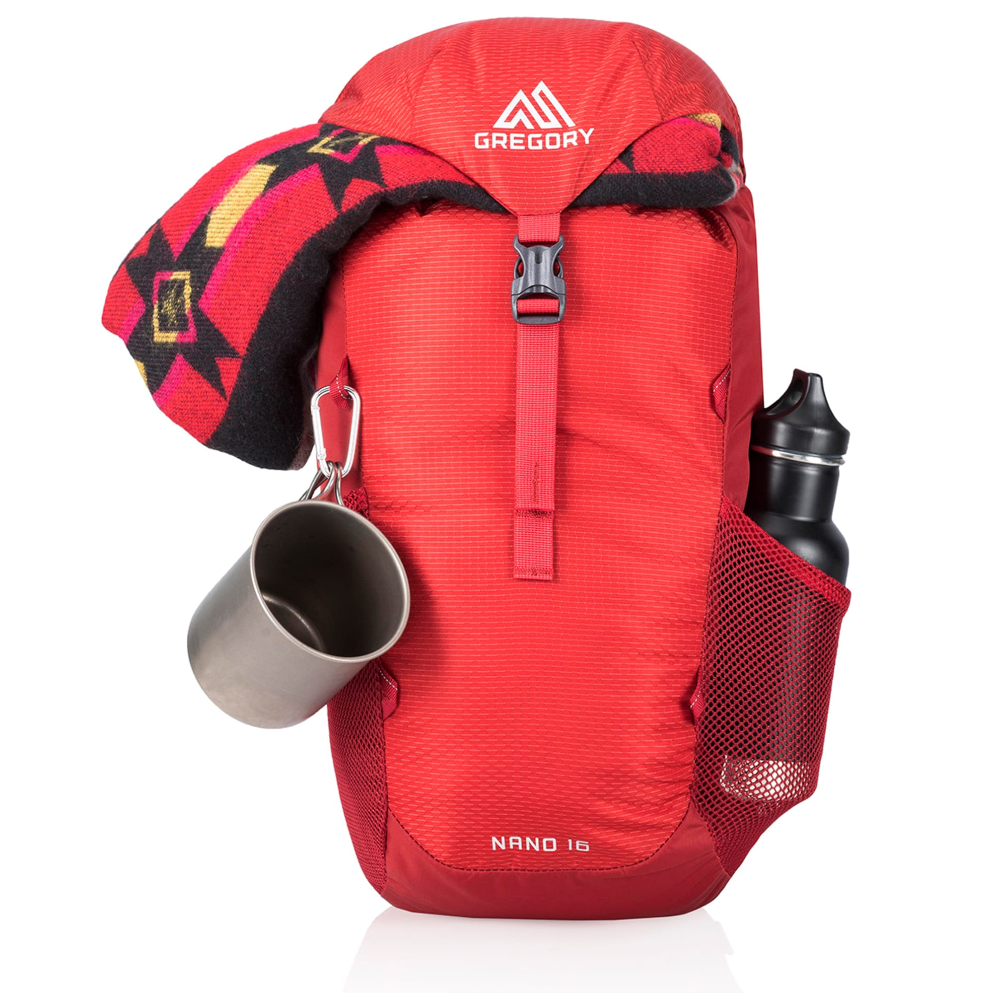Gregory Packs Nano 16 Litre DayPack BackPack in Red Perfect Small Hike Bag