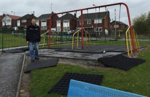 Sunny Bank playground damage
