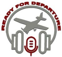 Logo for Ready for Departure Podcast