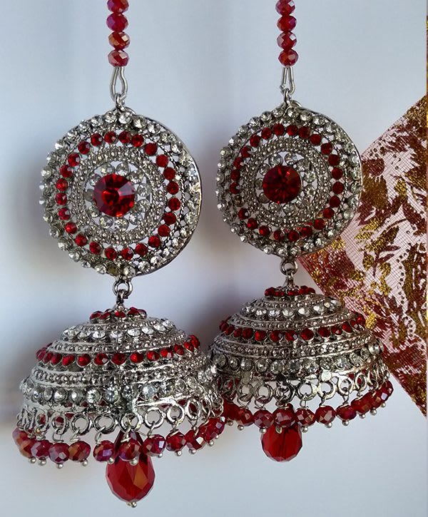 Indien red with sliver