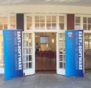 EASY SOFTWARE UK's Door Signs at EASY's Partner Day 2015