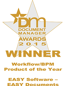 The DM 2015 Award for Workflow/BPM Product of the Year goes to EASY SOFTWARE UK