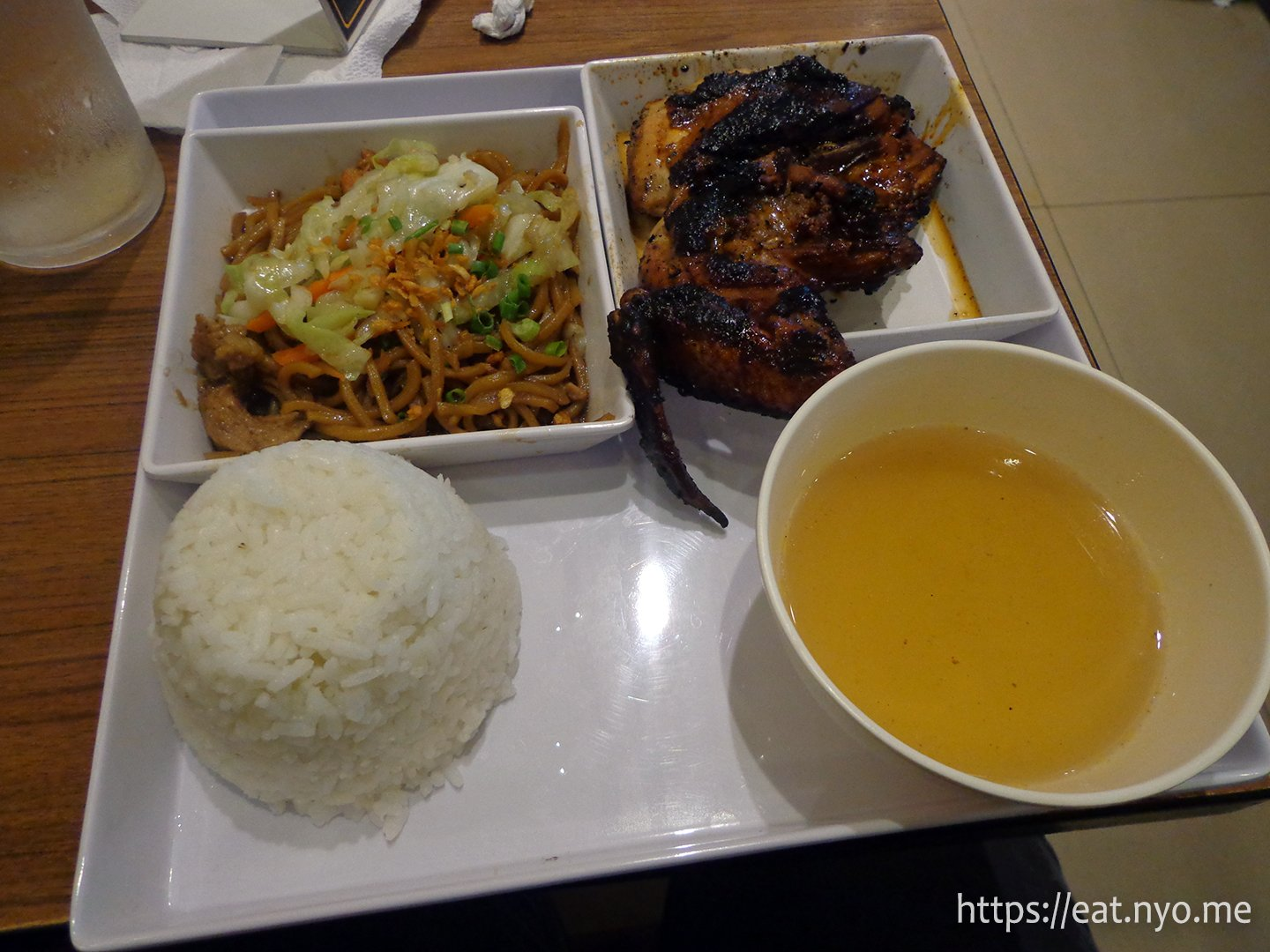 Chicken Inasal with Pancit Canton