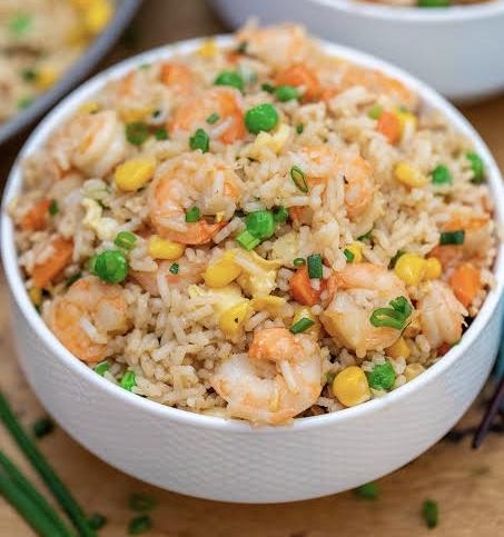 Shrimps rice / spoon