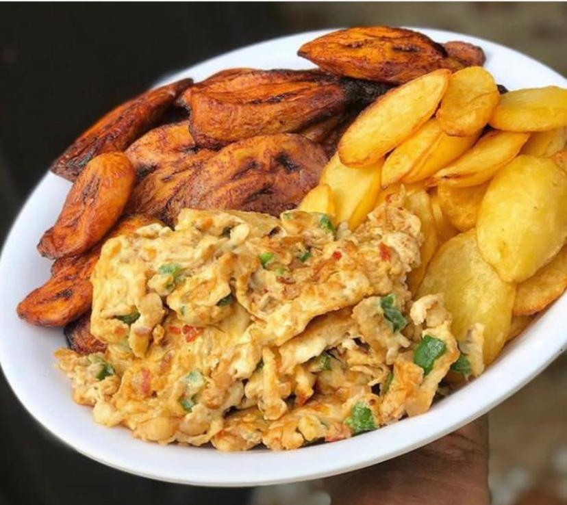 Plantains and egg