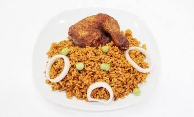 Jollof rice and chicken combo