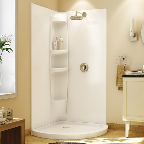 Olympia White Acrylic Shower Wall Surround by Maax