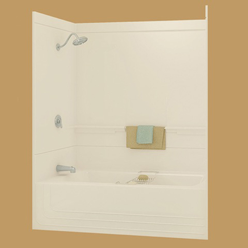 "Monaco 60"" Bone Two Piece Tub/Shower by Maax (left drain)"
