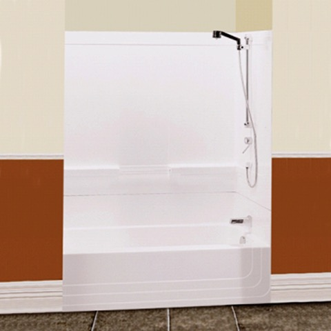 2 piece tub shower. Monaco 60  Two Piece White Tub Shower BY MAAX right drain