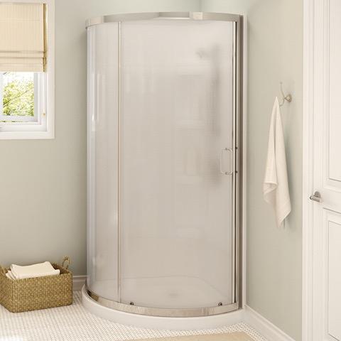 Cyrene Round Shower Kit White, by Maax