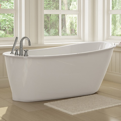 Sax Freestanding Soaker Tub W White Apron By Maax
