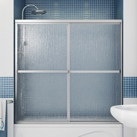 "Polar 60"" Tub Door w/ Raindrop Glass by Maax"