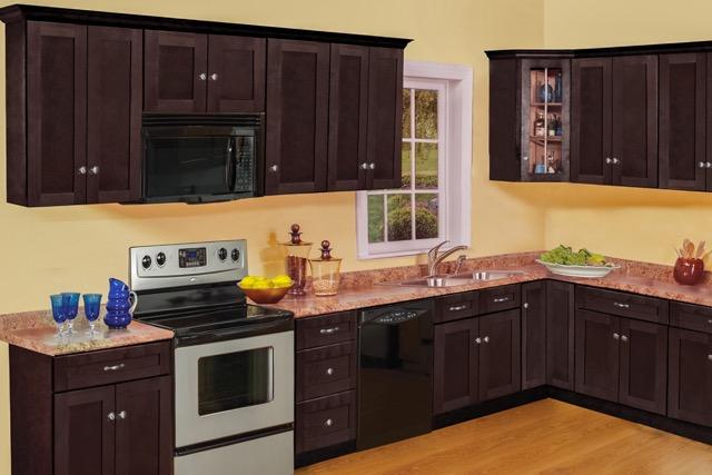 NORTH TIMBER NEWPORT ESPRESSO | Kitchen Cabinets | Bargain ...