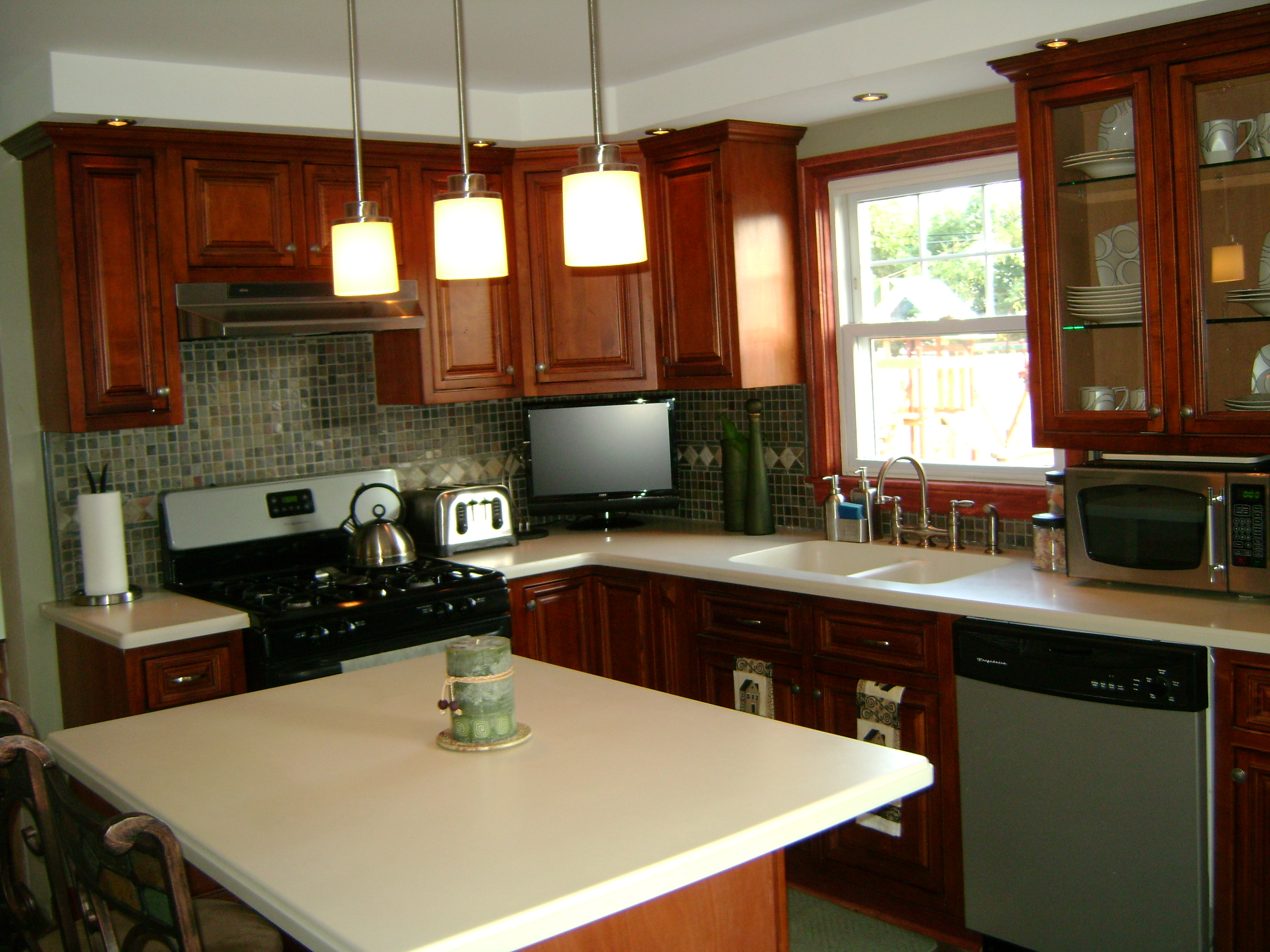 Cherry Finished Cabinets