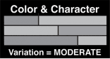 Moderate Color Character Icon