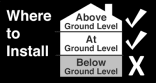 At/Above Ground Install Icon