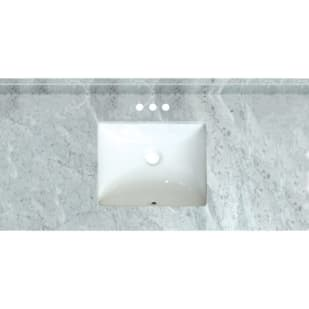 5020725 Carrara Marble 49 x 22 Natural Stone Vanity Top