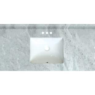 5020725 Carrara Marble 49 x 22 Natural Stone Vanity Top