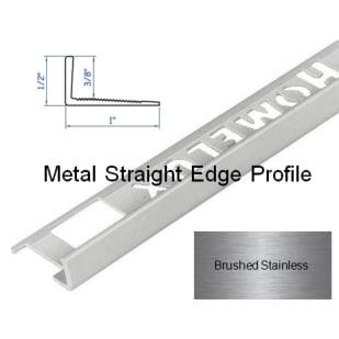 5552832 HomeLux Metal Straight Edge Flooring Trim