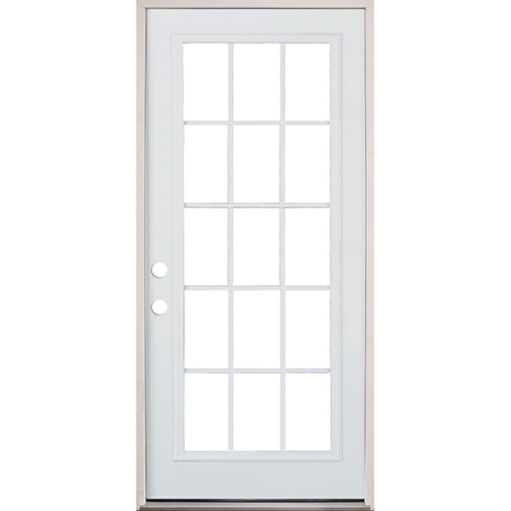 45320083 36 15 Lite Prehung Exterior Steel Door Unit  Right Hand