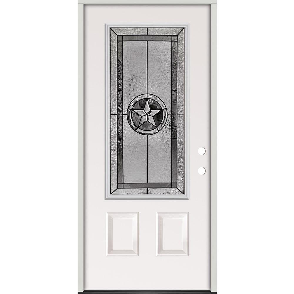 45320057 36 3 4 Lite Prehung Exterior Steel Door Unit  Left Hand