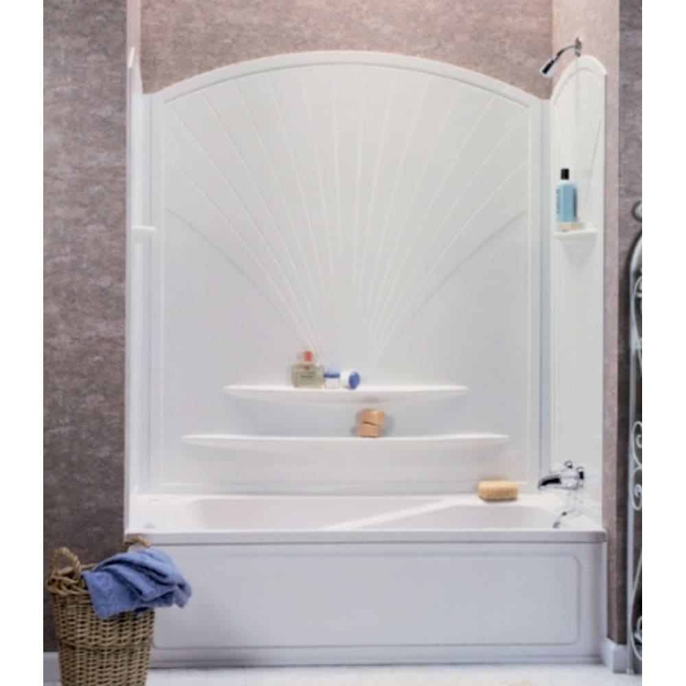 "Maax Decora 63"" White Tub Wall Surround"