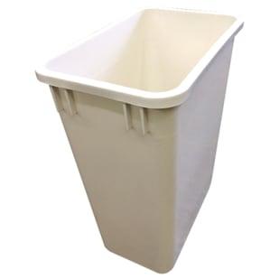 5049021 Trash Bin  35 quart  White
