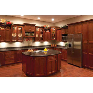 Faircrest Cherry Shaker Kitchen Cabinet