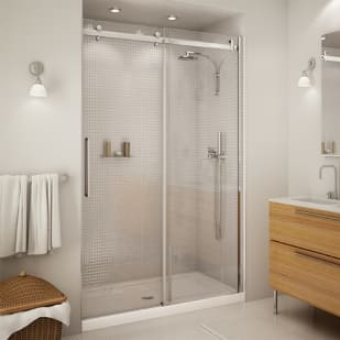 "Maax Halo 48"" Clear Glass Shower Door"