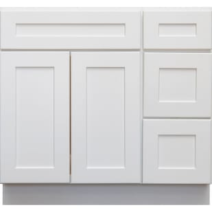 5053007 Heritage Shaker White 36 RH Vanity With Drawers