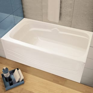 "Maax Avenue 60""x30"" White Soaker Tub with Right Drain"