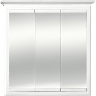 5018009 Linen White Tri-View 30x30 Medicine Cabinet