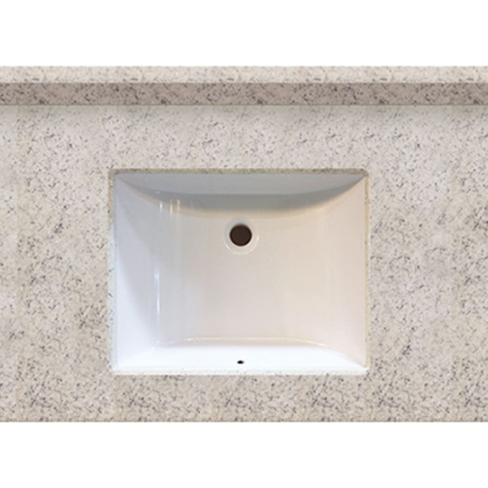 5020508 Arctic Stone 31x22 Engineered Stone Granite Finish Vanity Top