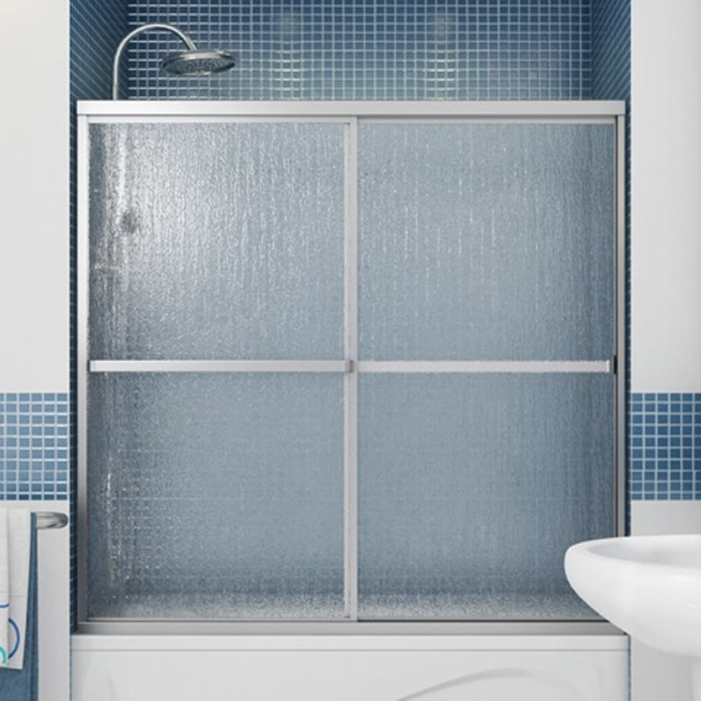 "Maax Polar 60"" Tub Door with Raindrop Glass"